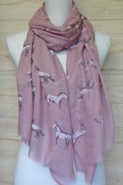 sjaal roze met paardenprint