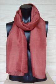 zijden sjaal donker zalm