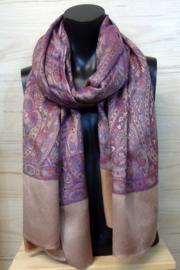 zijden sjaal art nouveau dessin