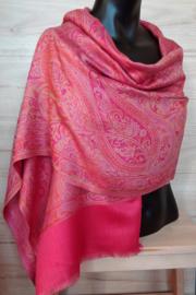 sjaal paisley roze rood