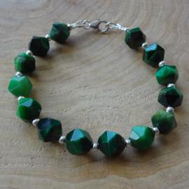 armband van groene tijgeroog