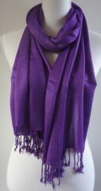 Geweven sjaal in helder paars