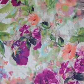 sjaal met bloemen