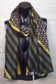 sjaal strepen en grafisch patroon