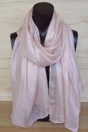 sjaal in zacht roze