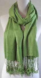 Geweven sjaal in mosgroen