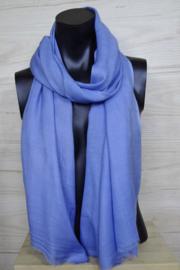 Sjaal in  jeansblauw, 50% wol
