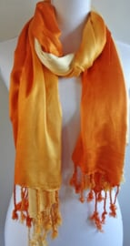 Sjaal in kleurverloop oranje