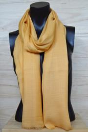 Sjaal in donker geel, 50% wol