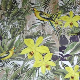 sjaaltje, bandana, tropische tuin