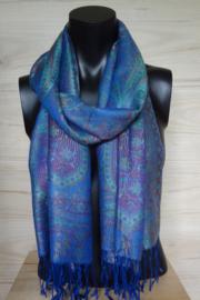 sjaal koningsblauw paisley