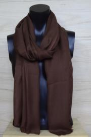 Sjaal in bruin, 50% wol
