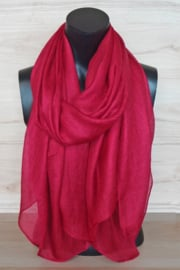 sjaal in wijnrood
