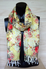 sjaal met rode rozen