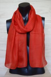 zijden sjaal tomatenrood