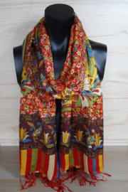 sjaal bloemen multicolor