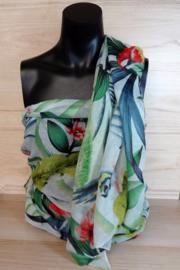 Sjaal tropisch dessin