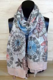 Sjaal met bloemendessin