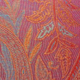 zijden sjaal roze oranje