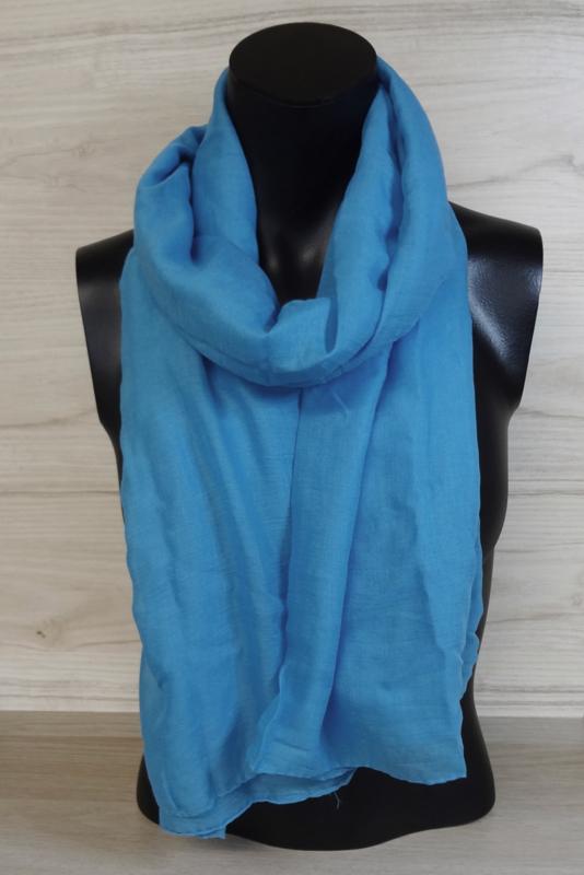 Sjaal aquablauw