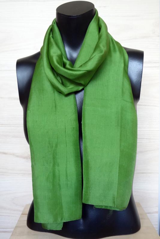 zijden sjaal grasgroen