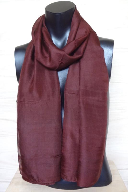 zijden sjaal roodbruin