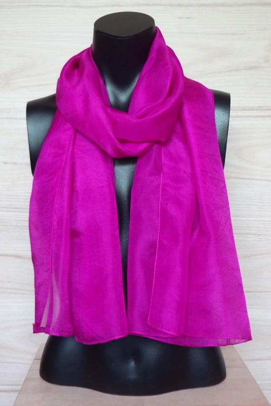 zijden sjaal fel roze