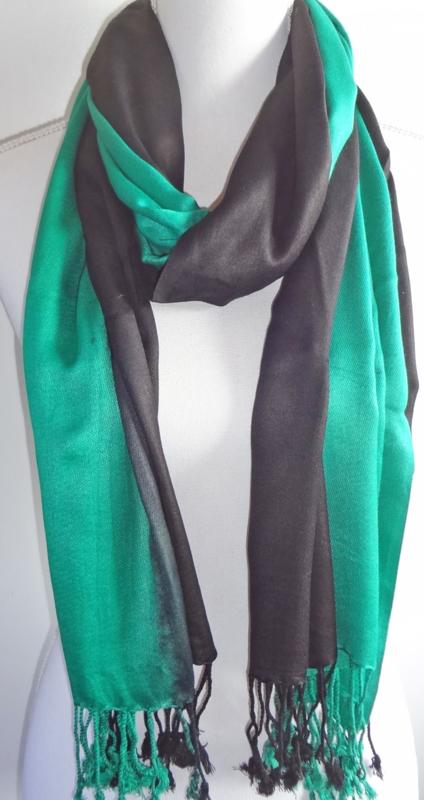 Sjaal in groen en zwart
