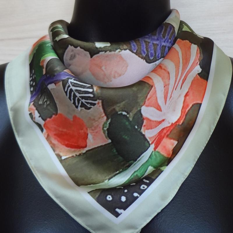sjaaltje, bandana met bloemen