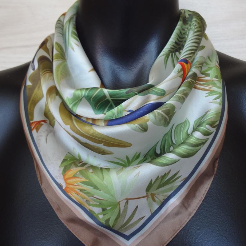 sjaaltje, bandana, tropische planten en dieren