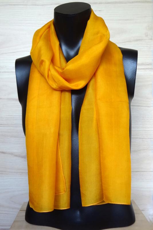 zijden sjaal oranje-geel