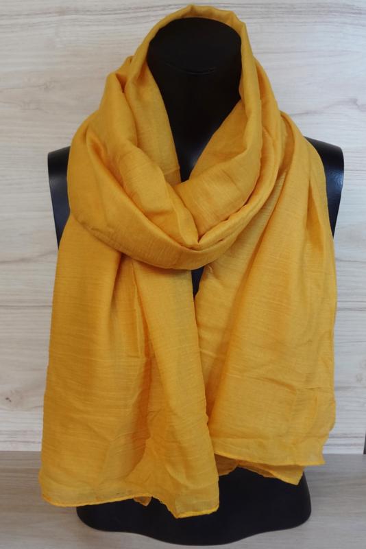 Sjaal okergeel