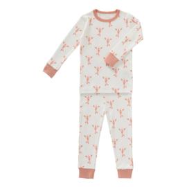 2-delige pyjama lobster coral