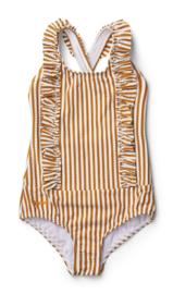 Moa swimsuit mustard stripes