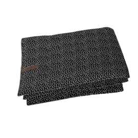 Play blanket cozy dots black