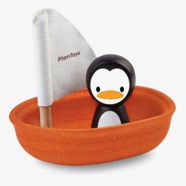 Zeilboot pinguïn badspeelgoed - Plan Toys