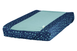 Vital changing mat cover hearts denim - Heart of Gold