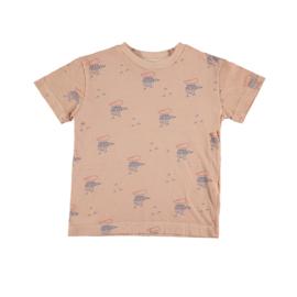 T-shirt woodpecker salmon