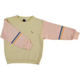 Sweatshirt brushstroke yellow mellow