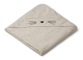 Augusta towel hooded cat sandy - liewood
