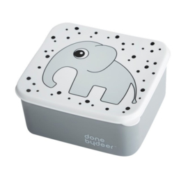Lunchbox happy dots grey - Done by Deer