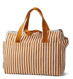 Melvin mommy bag mustard stripes - Liewood