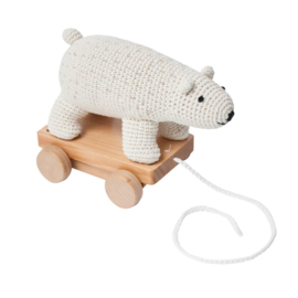 Pull along toy polar bear - sebra