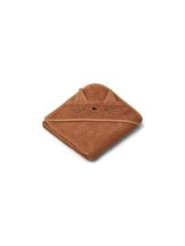 Augusta towel hooded cat terracotta - liewood