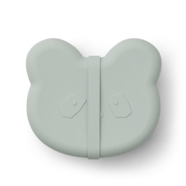 Vita silicone lunchbox panda dusty mint