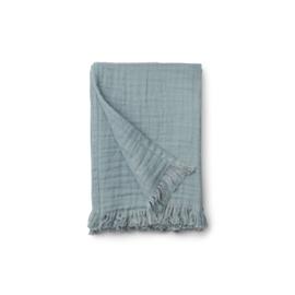 Magda muslin blanket sea blue