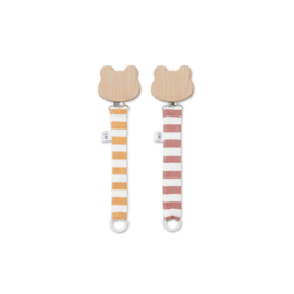 Sia pacifier straps stripes mustard - Liewood