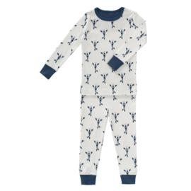 2-delige pyjama lobster indigo