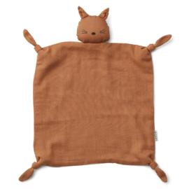 Agnete cuddle cloth Cat terracotta - Liewood