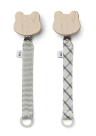 Sia pacifier strap 2pack blue mix